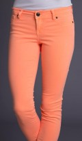 Neon Orange Skinny Pants