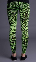 Neon Green Zebra Print Leggings