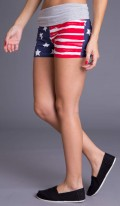American Flag Yoga Shorts