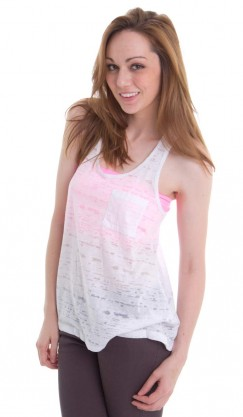 White Burnout Tank Top