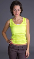 Neon Yellow V Neck Tank