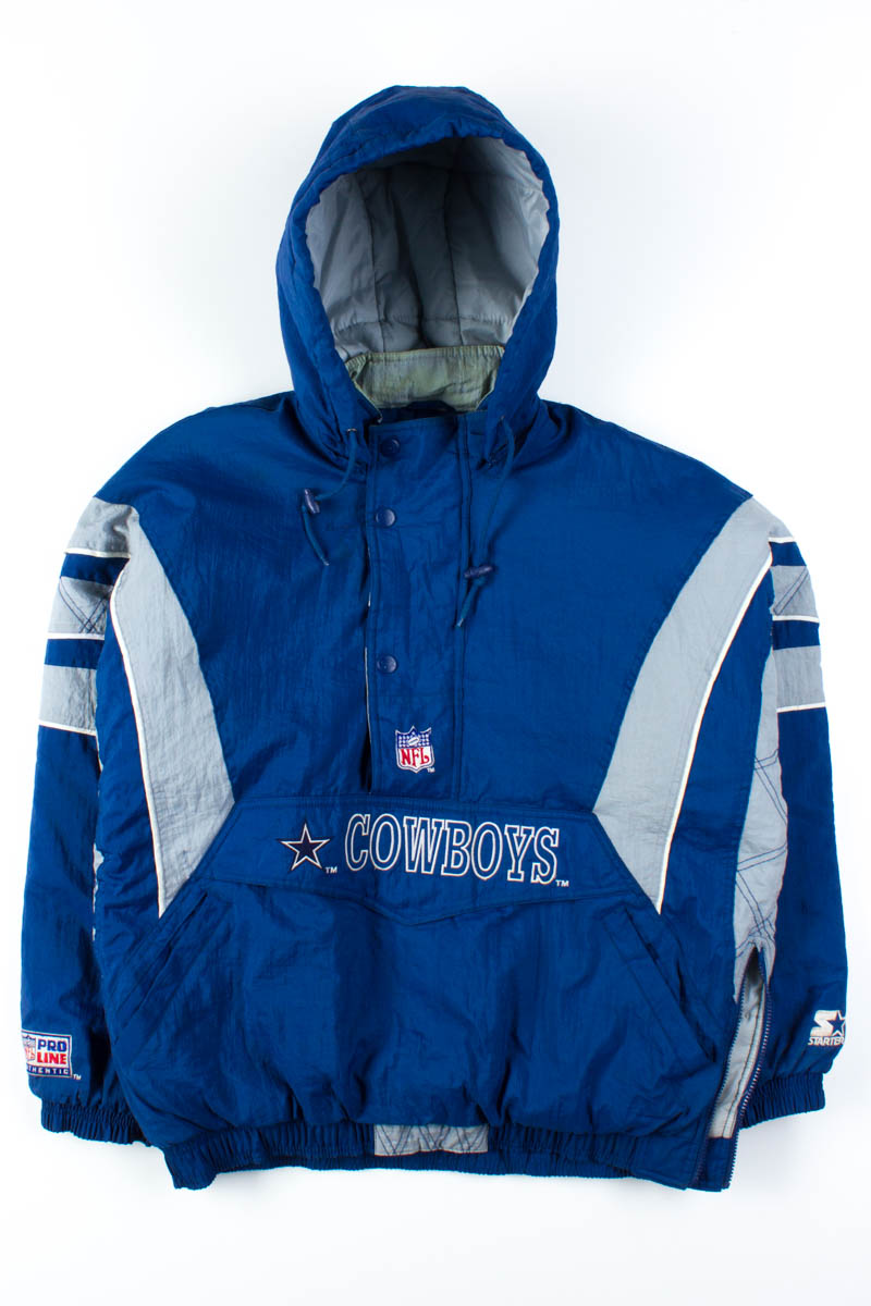 new concept 26b76 8d2c6 Dallas Cowboys Pullover Starter Jacket