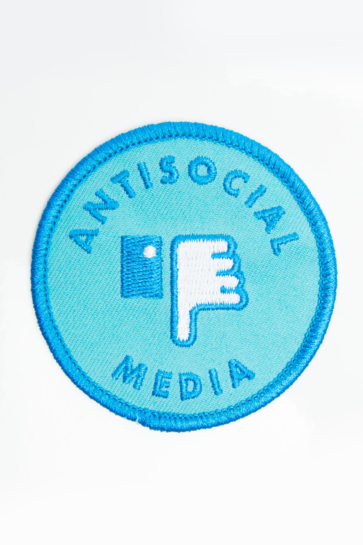 Antisocial Media Iron-On Patch