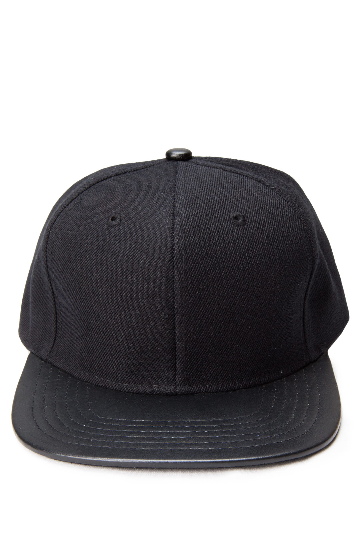 black snap hat