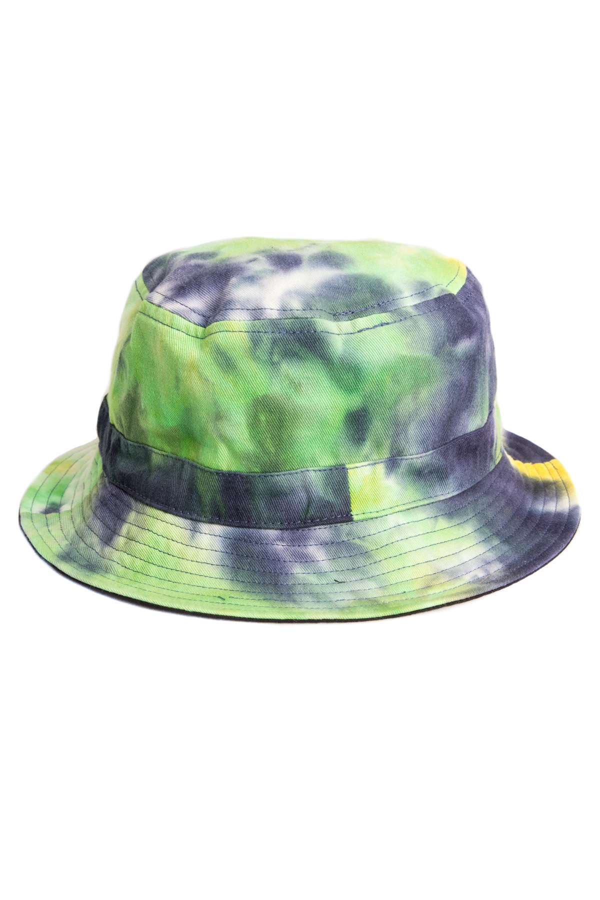 black reverse tie dye bucket hat