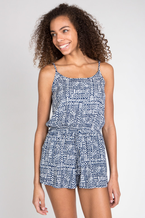 blue tribal romper