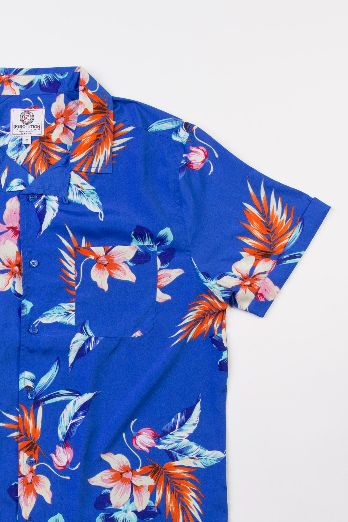 Blue flower print hawaiian shirt ragstock blue flower print hawaiian shirt izmirmasajfo