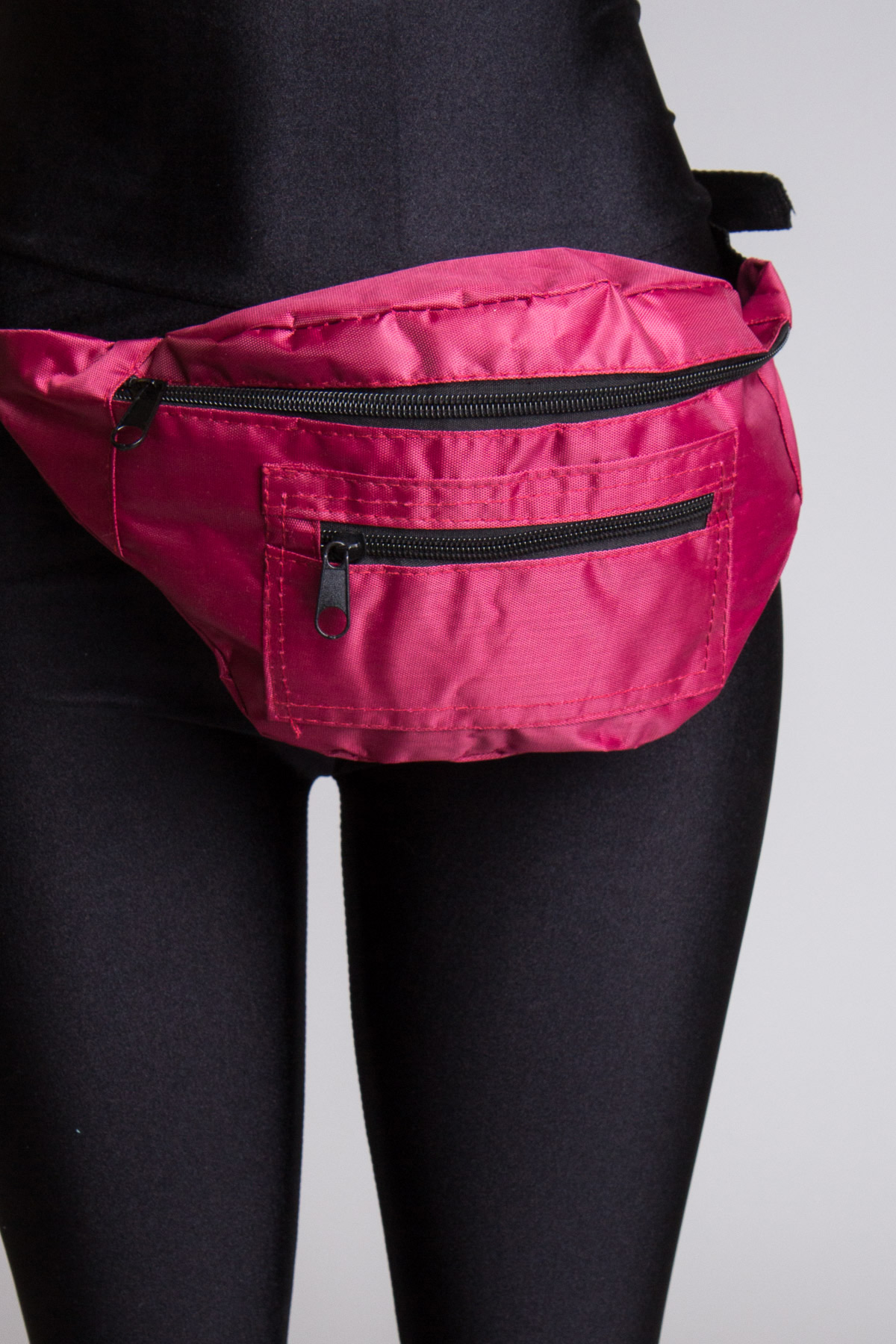 Burgundy Solid Fanny Pack