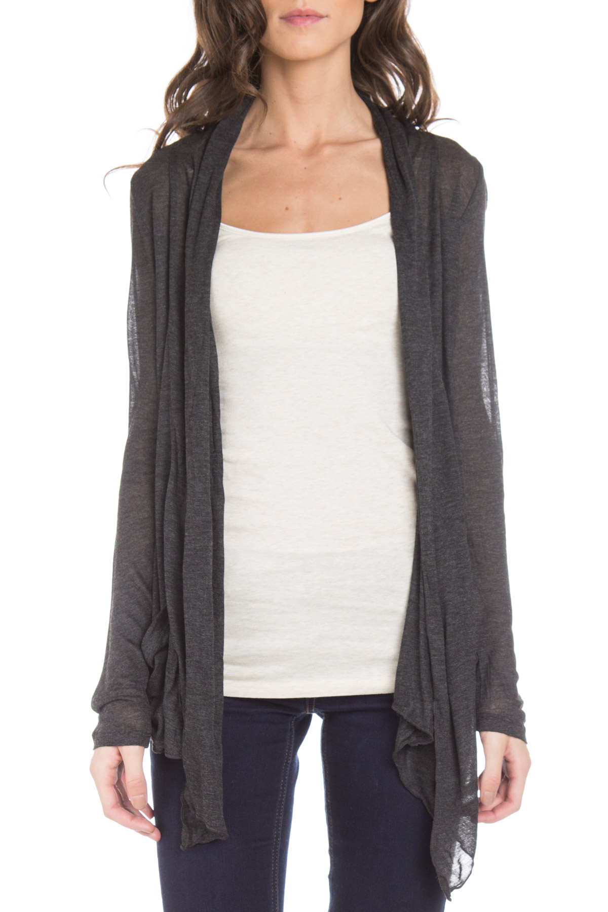 Women's Lightweight Long Sleeve Open Pocket Cardigan - Ragstock