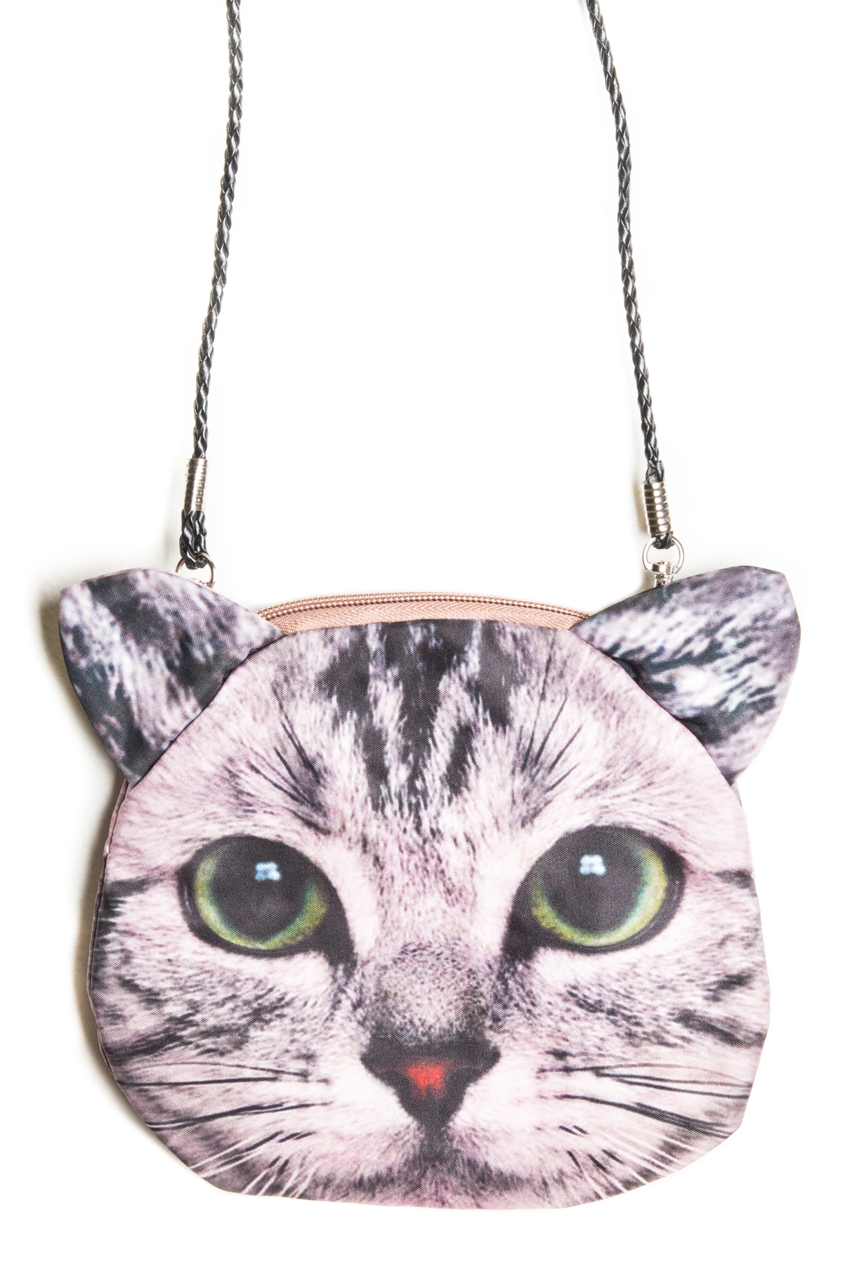 cat purse grey cat