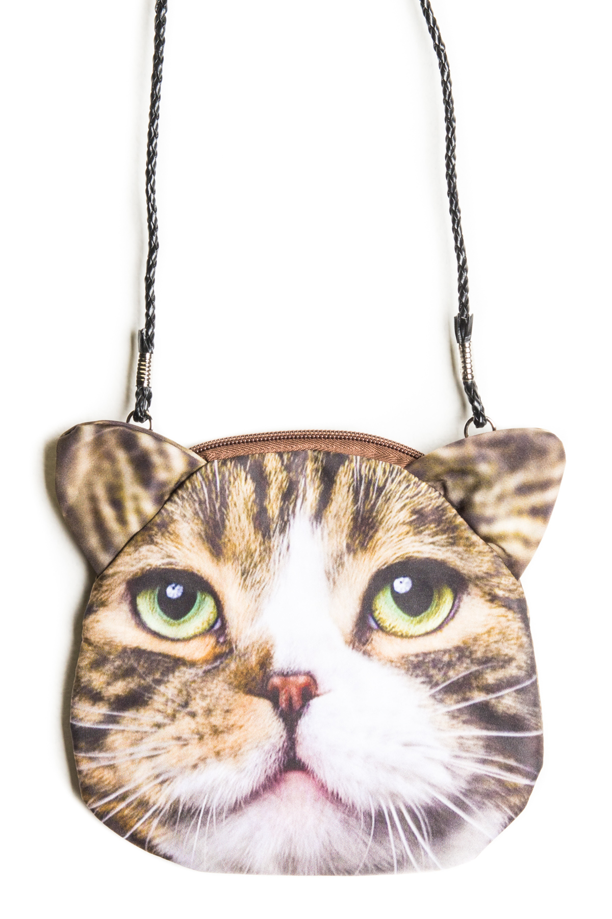 cat purse striped cat