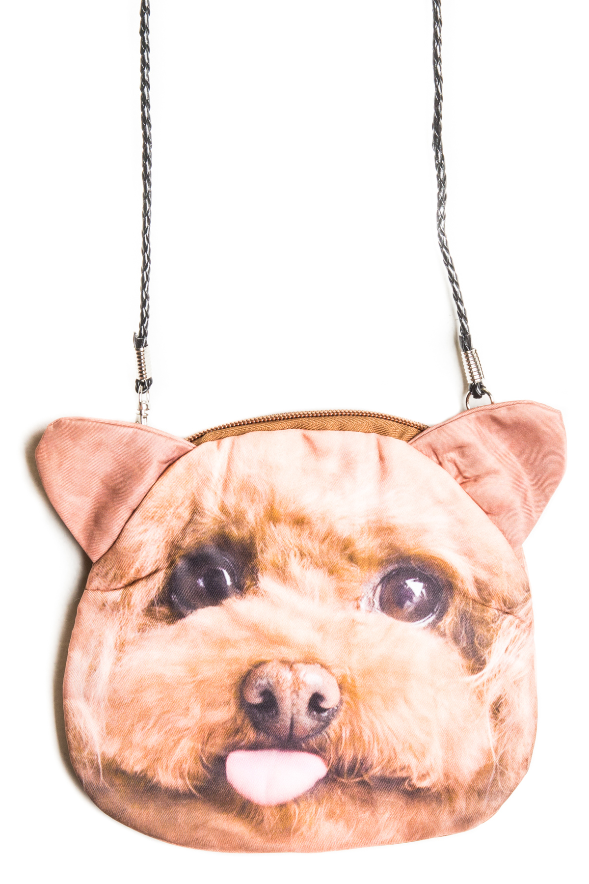 dog purse tan dog
