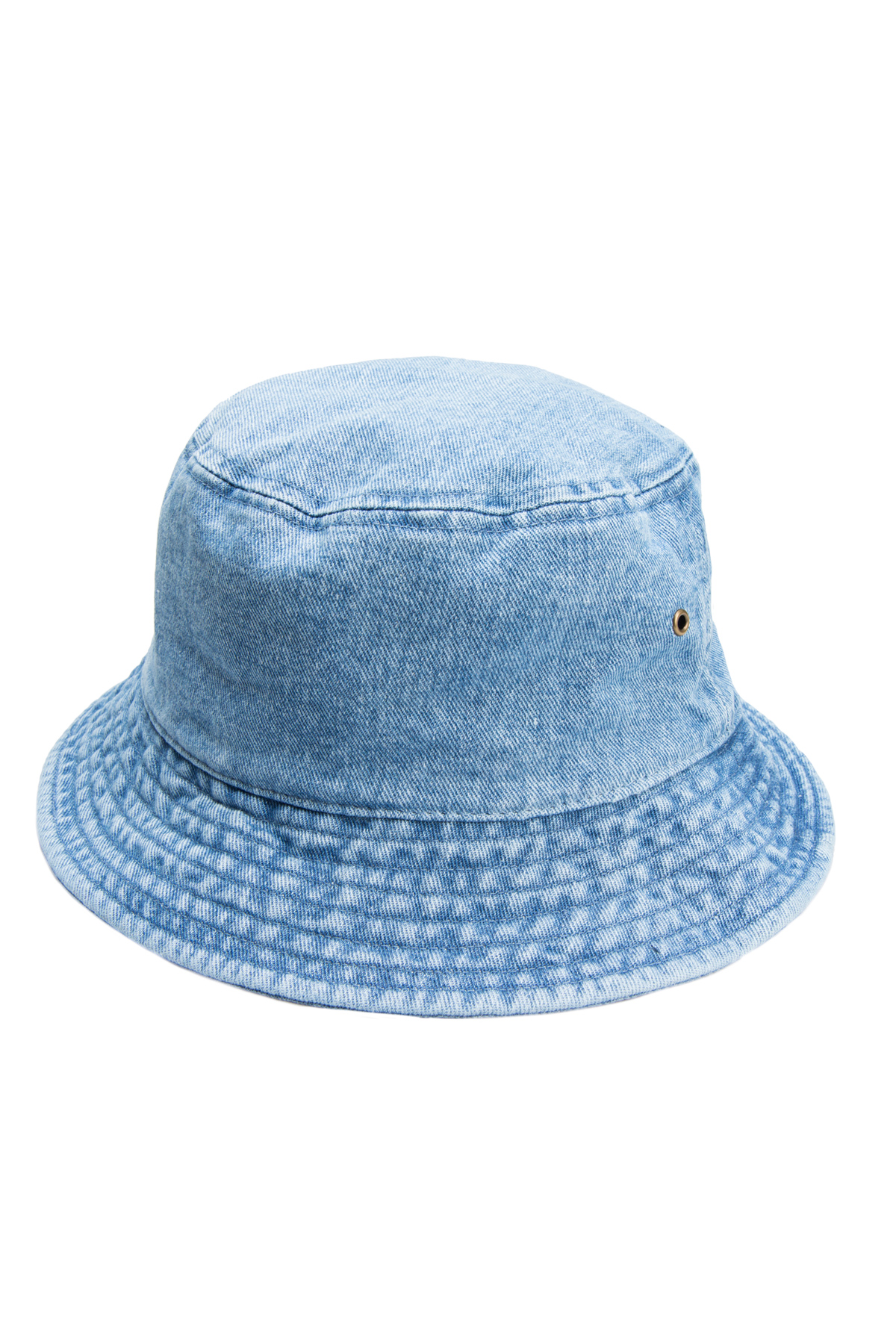 faded denim bucket hat