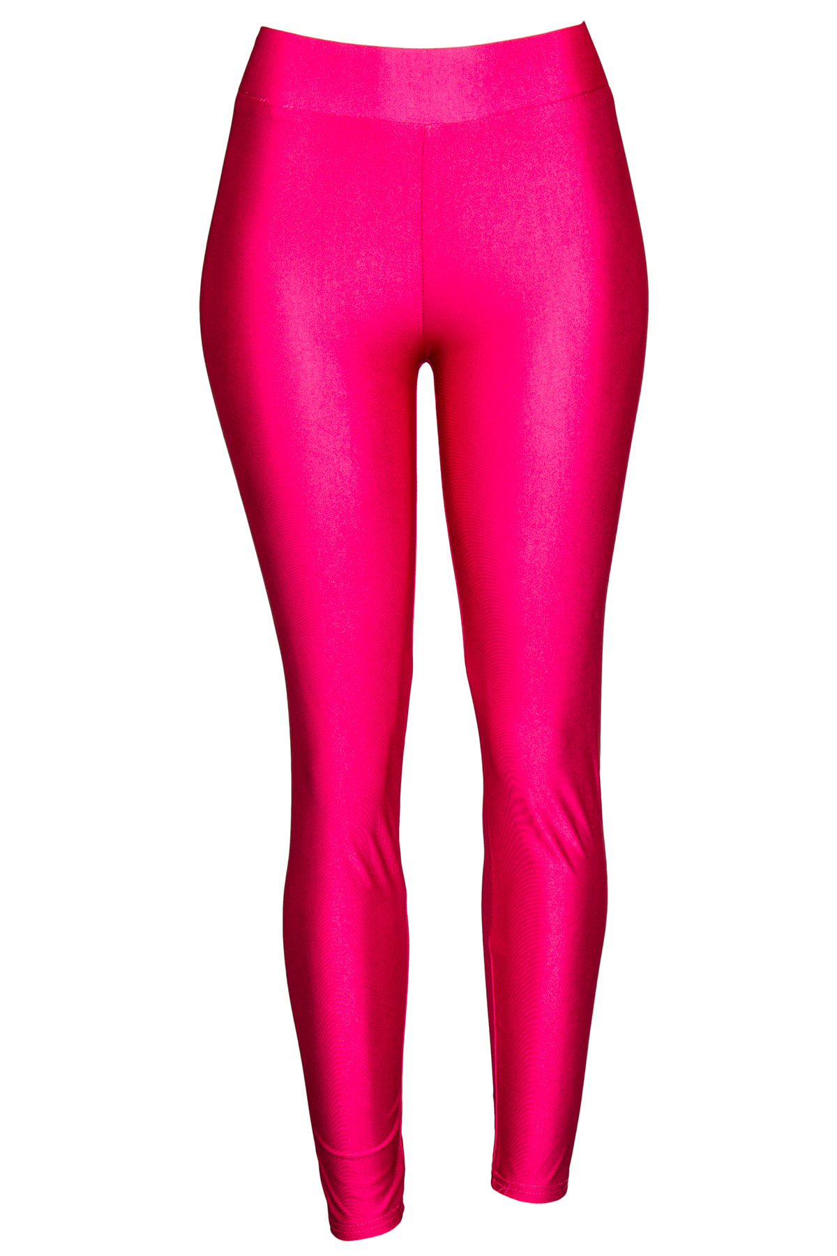 fuchsia shiny leggings