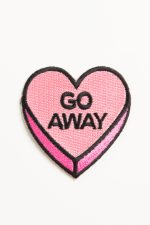 Go Away Heart Iron-On Patch