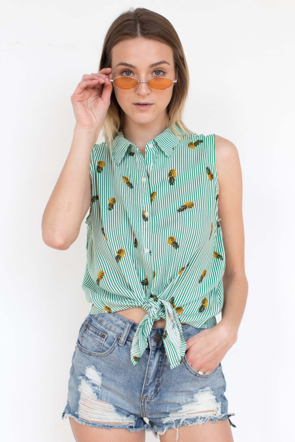 Green-Striped-Pineapple-Top-1