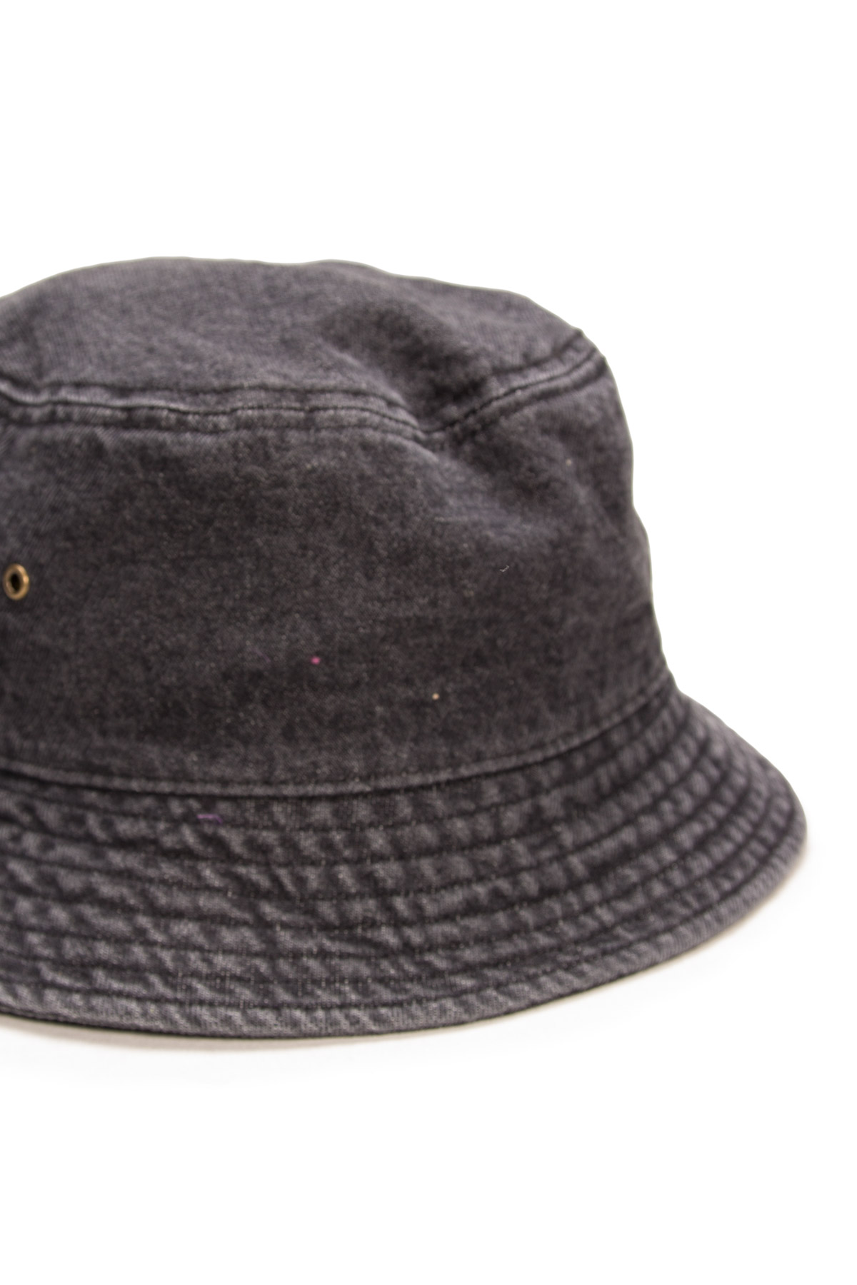 grey denim bucket hat