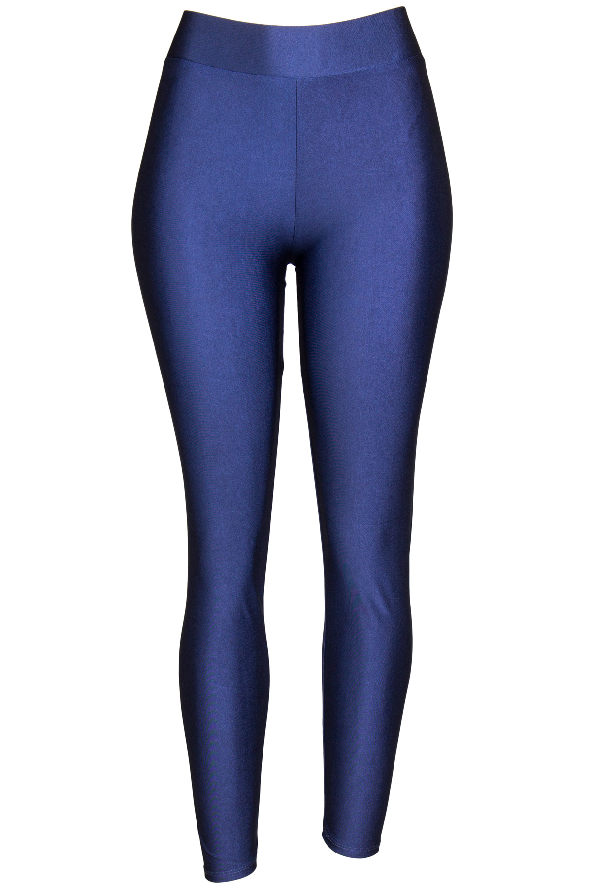 navy shiny leggings