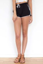 Black Peached Dolphin Shorts