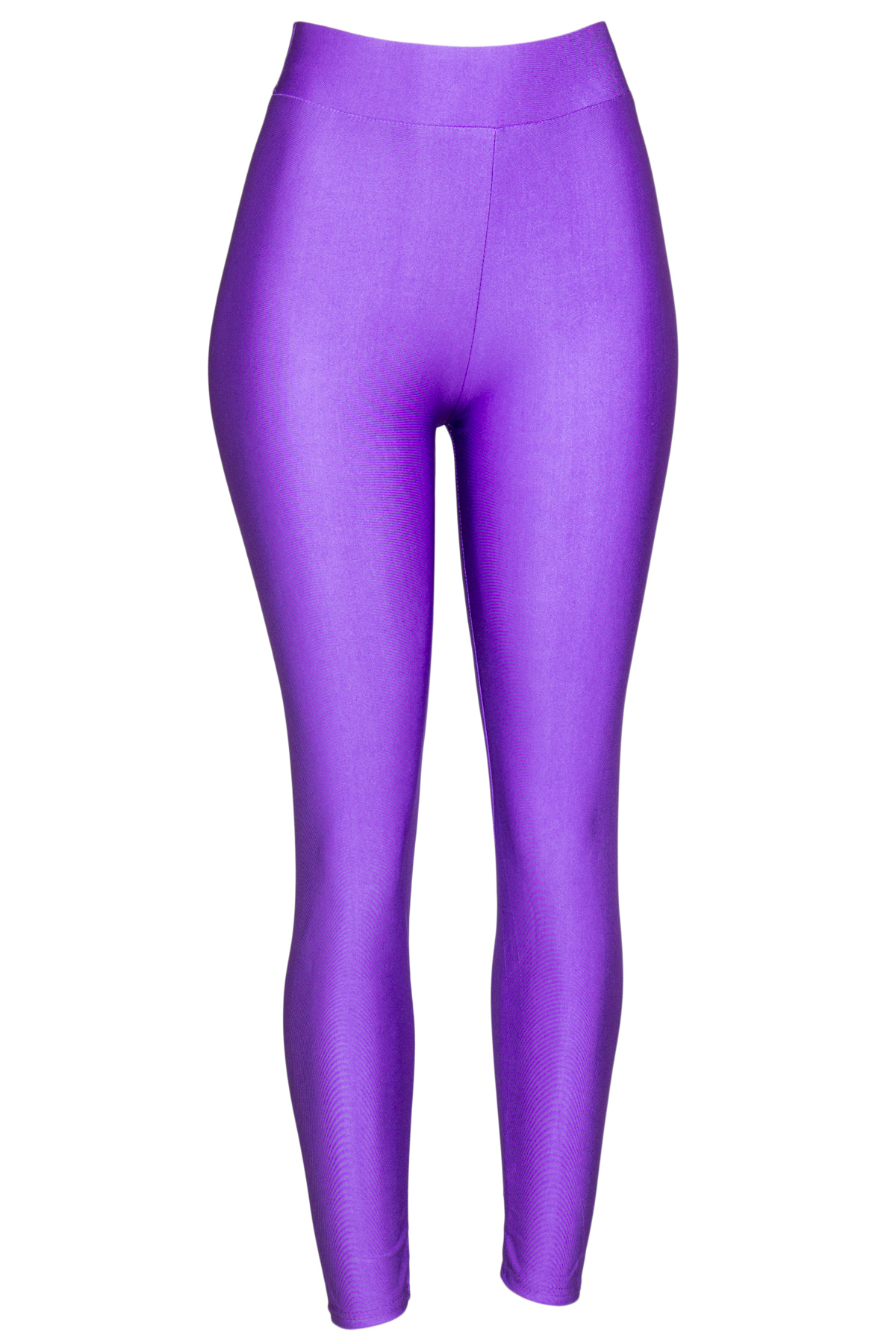 purple shiny leggings