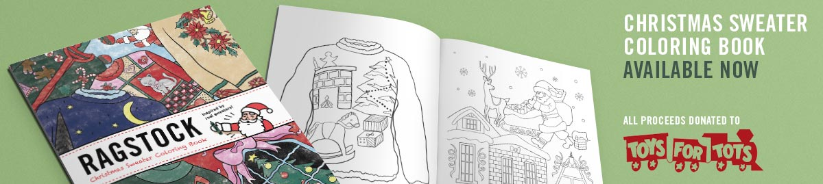 Ugly Christmas Sweater Coloring Book By Ragstock
