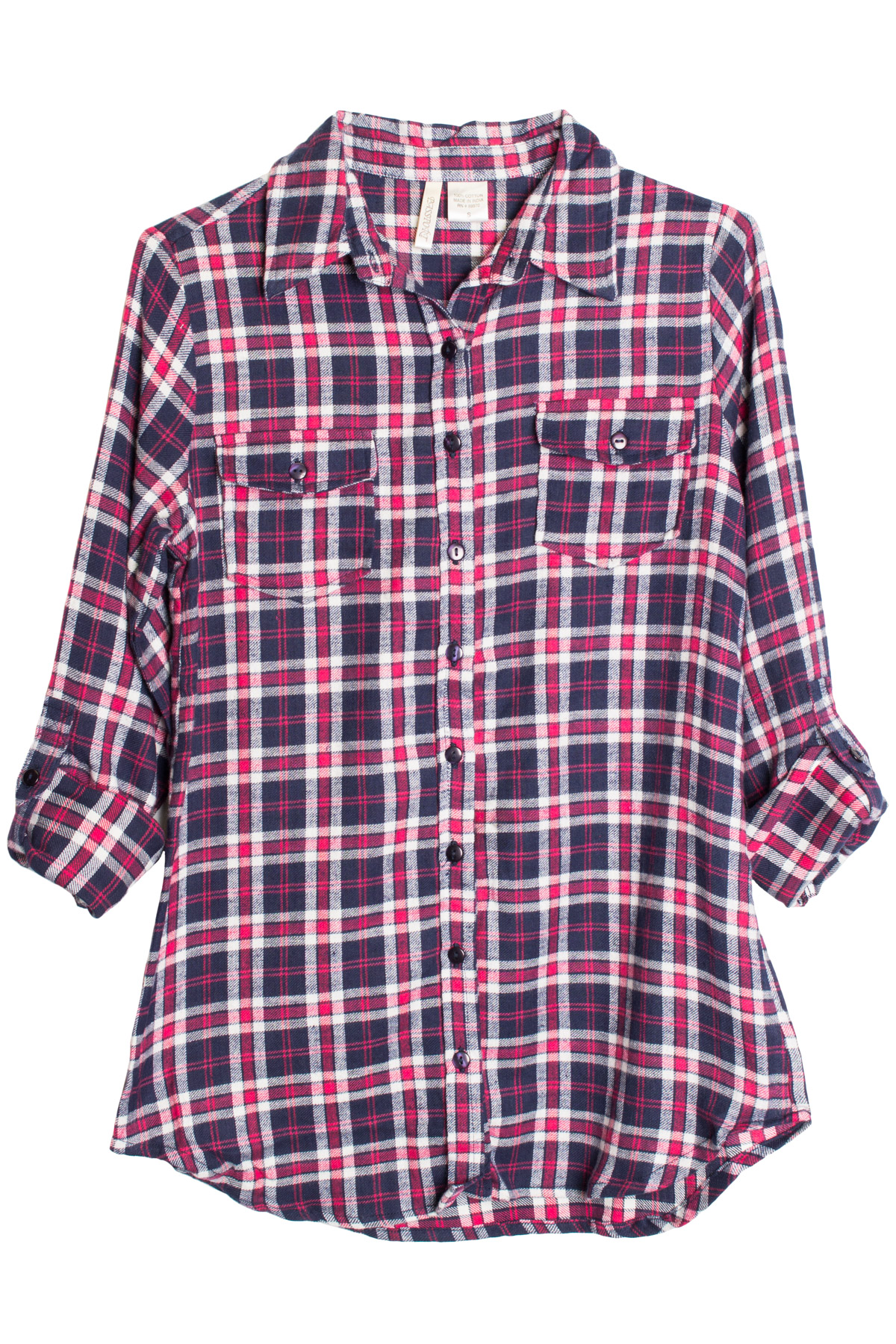 red ivory navy flannel