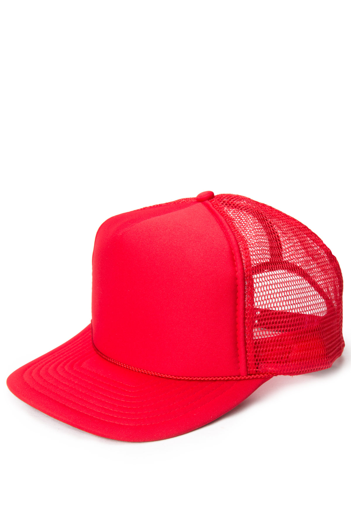 red mesh baseball hat
