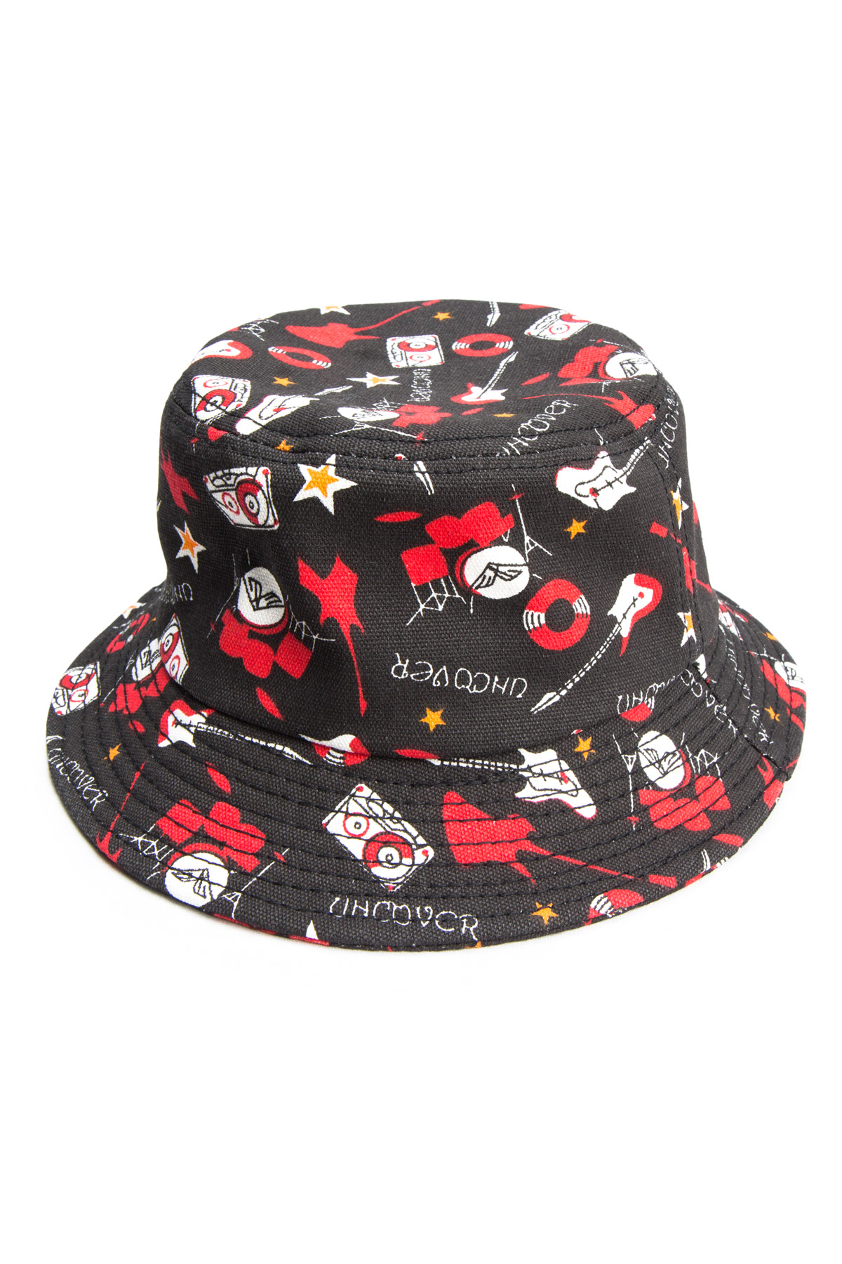 black rock & roll bucket hat