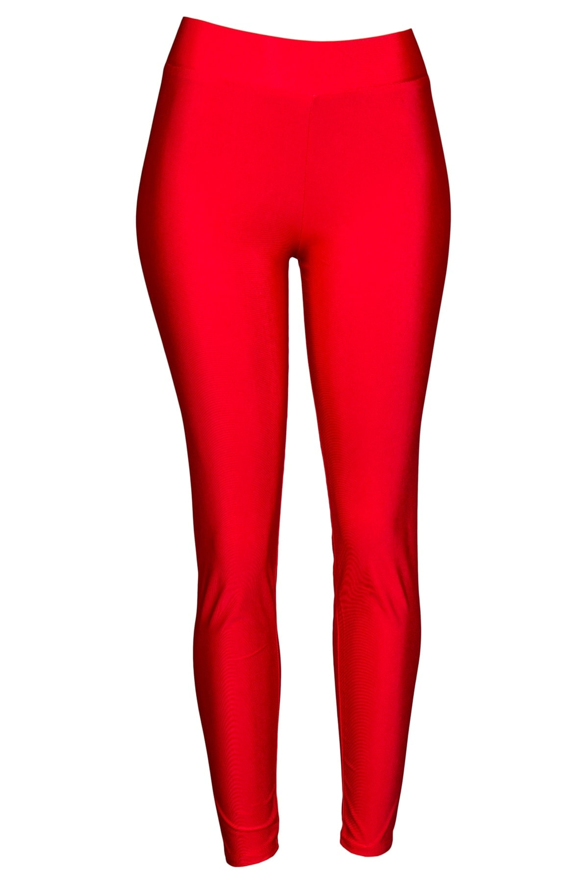 red shiny leggings
