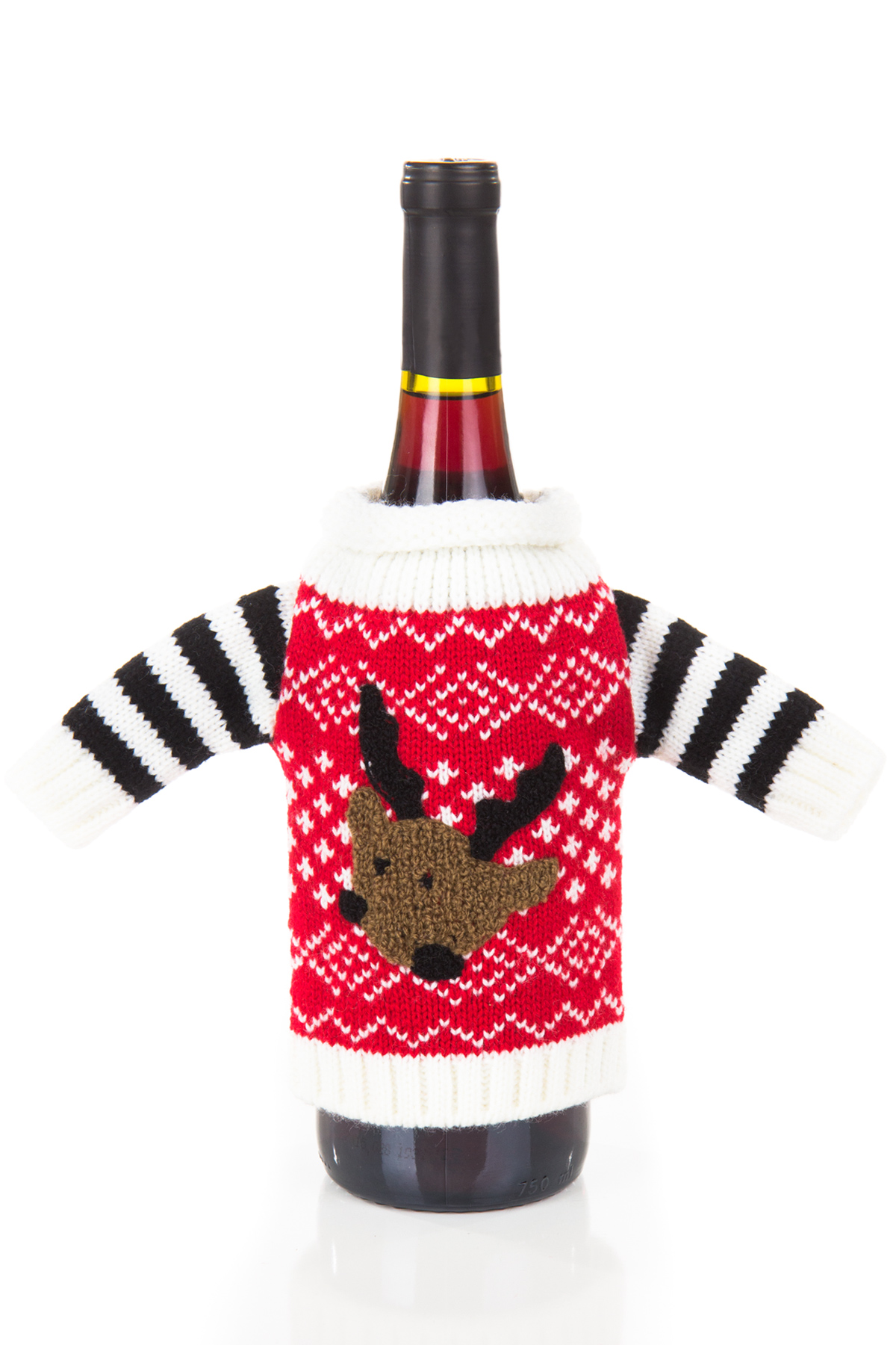 red and striped ugly wine sweater