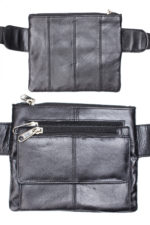 square leather fanny pack