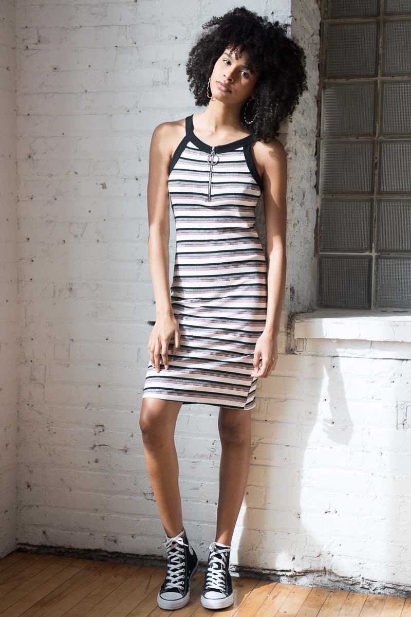 Stripe-90's-Zip-Dress-1