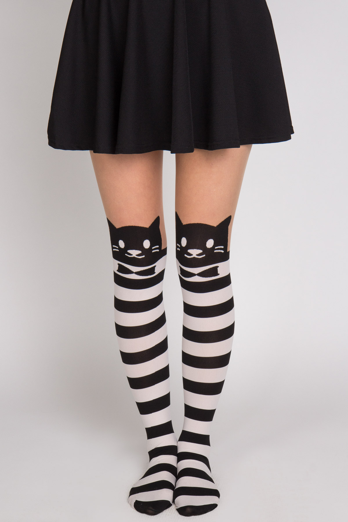 stripe cat tights