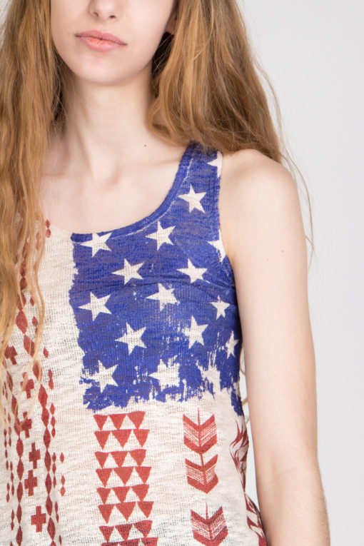 tribal flag tank