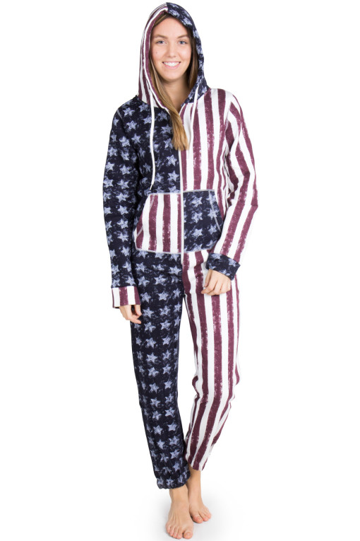 Usa Flag Onesie Pajamas