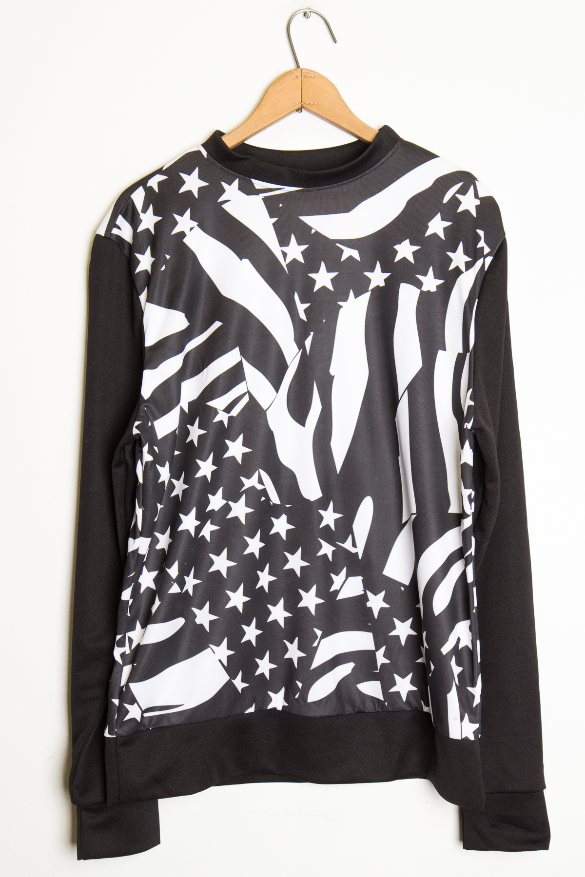 black and white usa tee
