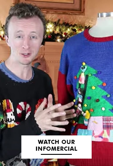 Ragstock Ugly Christmas Sweaters Infomercial