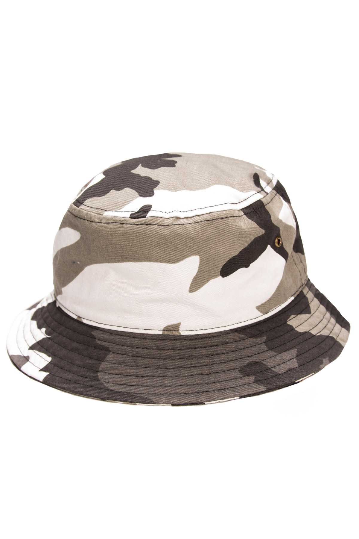 white camo bucket hat