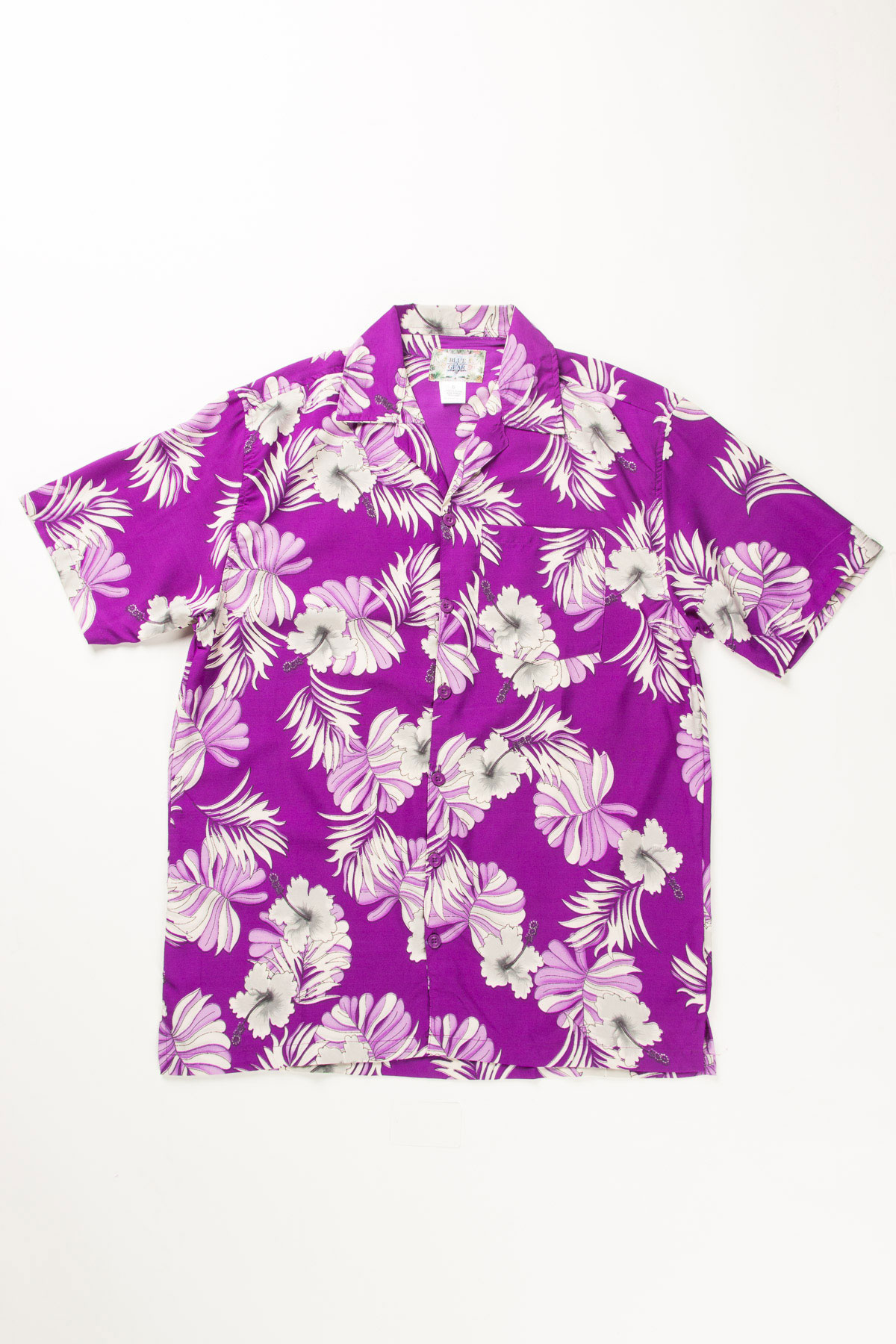 Purple White Hibiscus Flower Print Hawaiian Shirt Ragstock