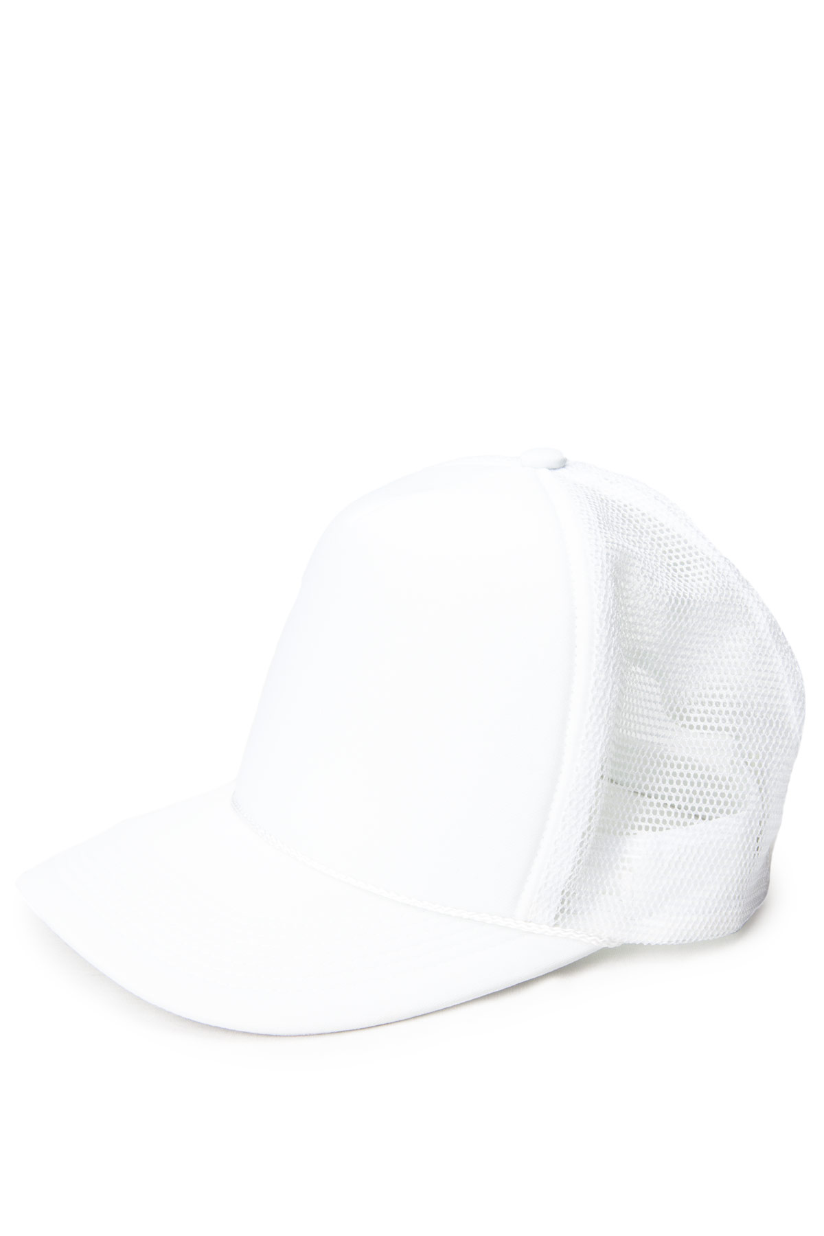 white mesh baseball hat