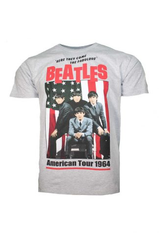 Beatles American Tour 1964 Gray T-Shirt