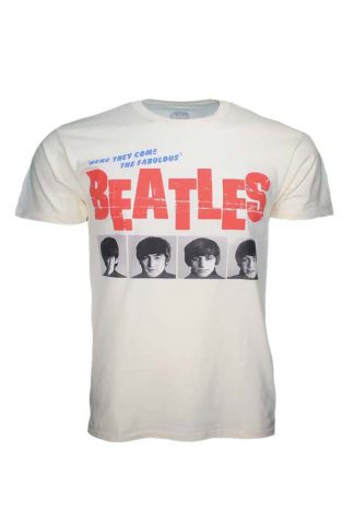 Beatles American Tour 1964 Cream Front Print T-Shirt