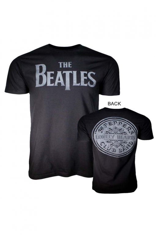 Beatles Lonely Hearts Black T-Shirt