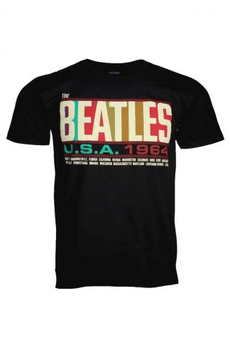 Beatles USA 1964 Band T Shirt