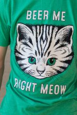 Beer Me Right Meow Tee