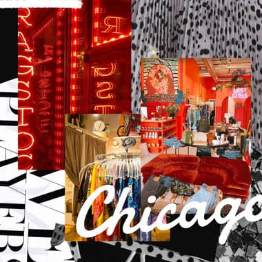 a collage of some of the best vintage stores in chicago