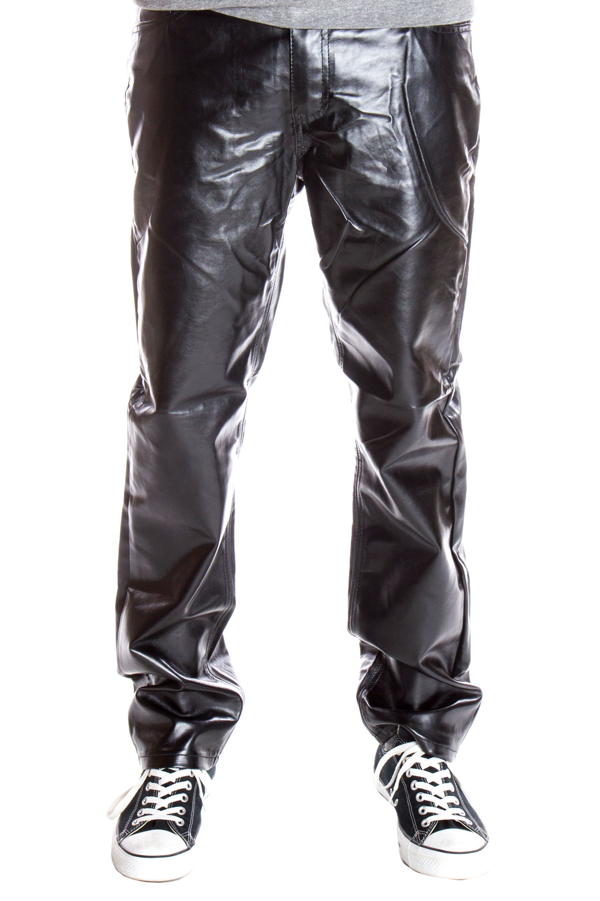 black metallic jeans for men