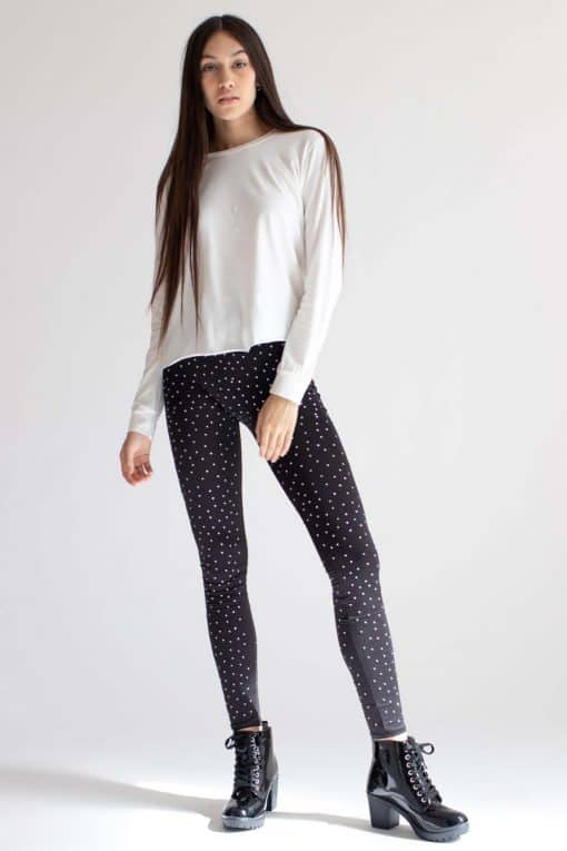 Black Rhinestone Leggings
