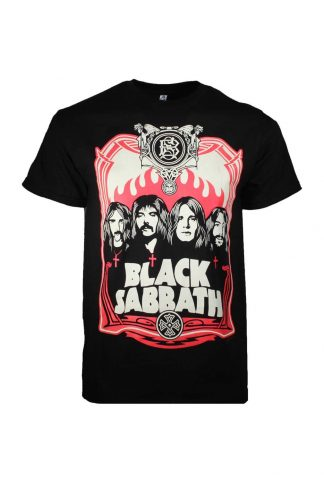 Black Sabbath Red Flames T-Shirt