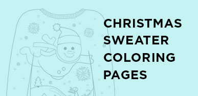 Ugly Christmas Sweater Coloring Pages